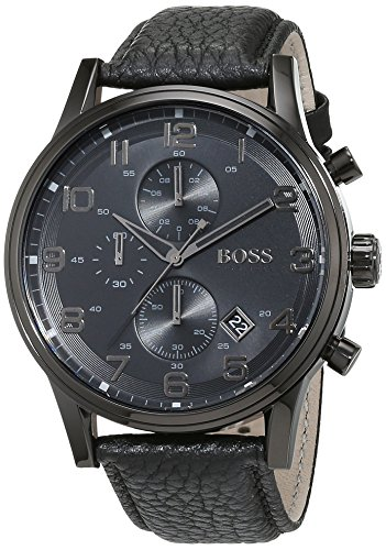 Hugo-Boss-Mens-Quartz-Watch-Chronograph-Display-and-Leather-Strap-1512567