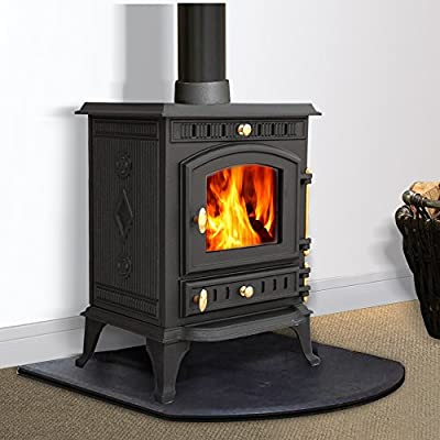 Lincsfire JA010 7.5KW Multifuel Woodburning Fireplace Cast Iron Woodburner