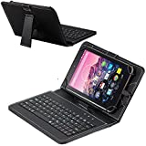 Navitech Black Micro USB Keyboard Case / Cover For It UK 10.1' Quad Core, Google Android 4.4 Tablet PC