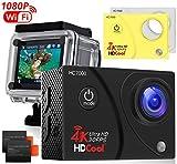 HDCool Action Kamera 4K 170 Grad Ultra Wi-Fi Wasserdichte Sport Kamera Weitwinkel-Objektiv 1080P HD...