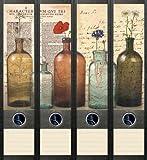 4er Set Ordnerrücken für breite Ordner Bottles Flaschen Ordner Aufkleber Etiketten Deko 041