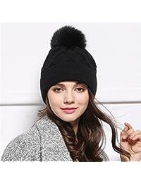 BTBTAV in Autunno e in Inverno Caldo Spessa Knit Hat Colore Solido Wild  Incantevole Inverno Lana coperture 7d9e80d45529
