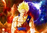 Poster Dragon Ball Z SuperVegeto Gogeta Super Saiyan Anime Manga Wall Art