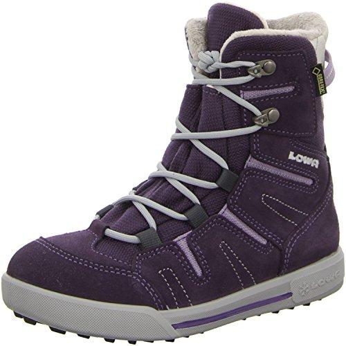 Lowa, Lilly GTX Mid, les enfants bottes chaud Doublure Violet - aubergine/lila