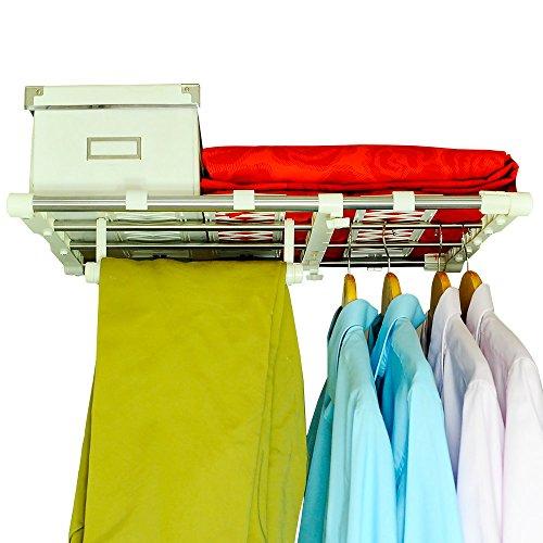 Kleiderschrank Regale Schrankregal Einstellbare Lagerregal Kleideraufbewahrung Regalteiler Organizer Divider Halter Kleiderbügel Schuhregale für Badezimmer Bücherregal 45-70cm ()