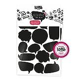 the Label Factory by favlov © · 34 Sprechblasen, schwarz | Aufkleber-Doodletags, Kinderzimmer & Spielzeugkisten Sticker zum Beschriften