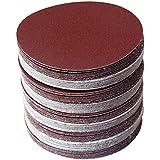 30pcs/set 6inch 150mm Papier Sablé Rond Disque Sand Sheets Grit 80/100/120/180/240/320 Disque de Ponçage et Crochet pour Sand
