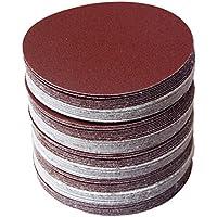 30pcs/set 6pulgadas 150mm Ronda Disco de papel de lija arena hojas, grano 80/100/120/180/240/320Hook & Loop Disco de lija para lijadora granos)