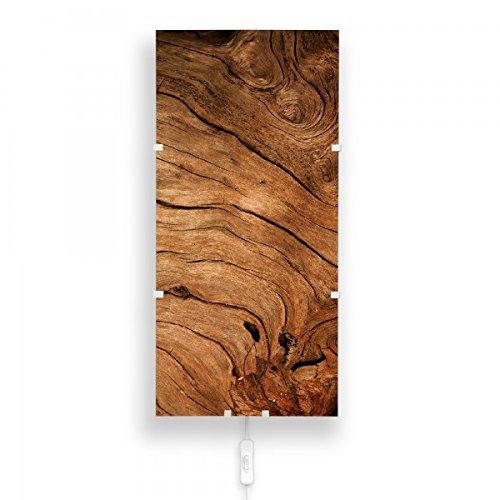 banjado-wandlampe-wandleuchte-26cmx56cm-design-lampe-led-mit-wechselscheibe-und-motiv-trockenes-holz