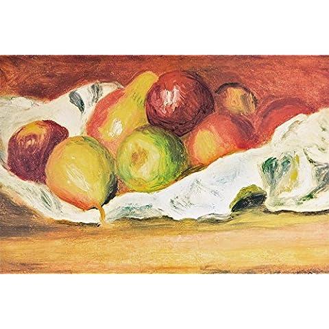 Pierre Auguste Renoir - Mele E Pere, 1889 Carta Da Parati Adesiva (180 x 120cm)