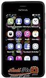 Nokia Asha 501 Smartphone (7,6 cm (3 Zoll) Touchscreen, 3,2 Megapixel Kamera, Dual-SIM, FM Radio) schwarz