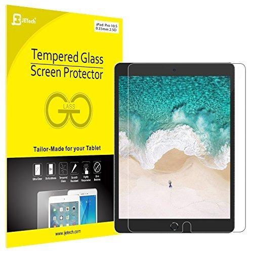 JETech Schutzfolie für iPad Pro 10,5, Gehärtetem Glas Schutzfolie Displayschutzfolie