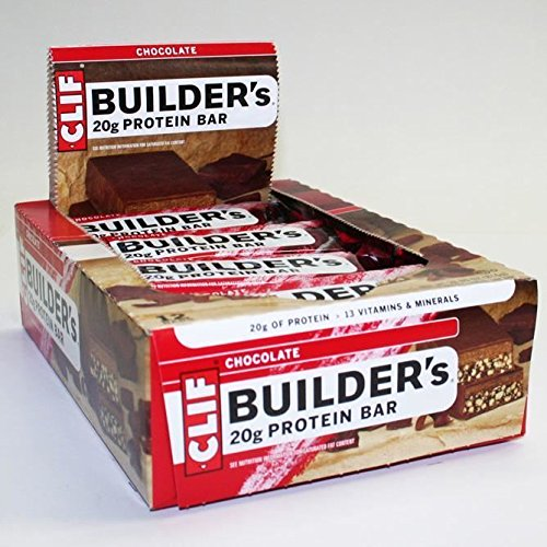 CLIF BUILDER'S - Protein Bar - Crunchy Peanut Butter - (2.4 oz, 12 Count) by Clif Bar - High Protein Bar Chocolate Peanut Butter