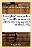 Telecharger Livres Liste alphabetique membres Assemblee nationale qui ont vote par oui ou par non a l appel nominal (PDF,EPUB,MOBI) gratuits en Francaise