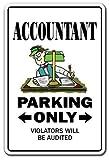 Witziges Schild Geschenk Buchhalter CPA Geschenk Finanzen Tax Bookeeper Geschenk Outdoor Metall Aluminium Schild, Dekoration