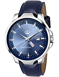 LimeStone Blue Avtar Day And Date Functioning Analog Watch For Men/Boys - LS2728