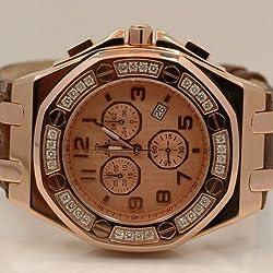 Aqua Master Royal Oak Mens Diamond Watch 1.50ctw W325K