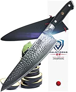 DALSTRONG Chef's Knife - Shogun Series X Gyuto - AUS-10V Japanese Super Steel 67 Layers- Vacuum Treated - Hammered Finish - 200mm - w/ Chef Knife Sheath