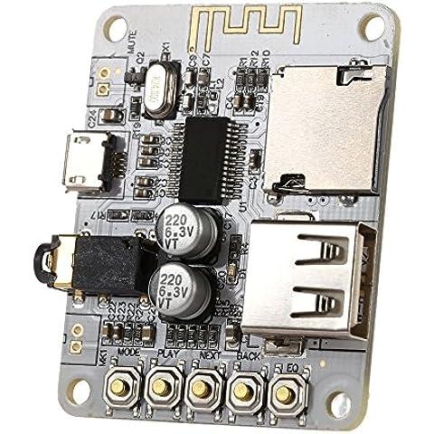 WINGONEER Junta receptor de audio inalámbrico Bluetooth portátil, TF de la ayuda de tarjetas USB Decording Play, Bluetooth estéreo de música Módulo transmisor para auriculares HI-FI Amplificador de cine en casa