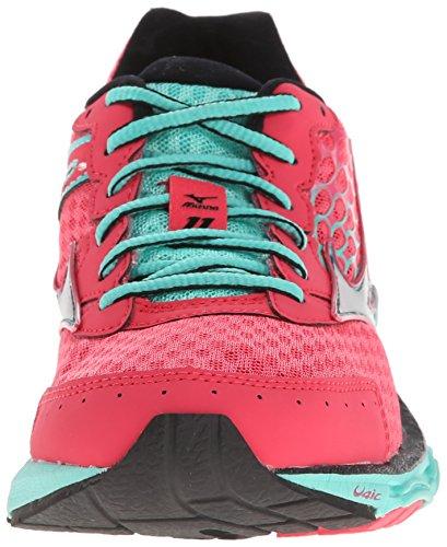 Mizuno Wave Inspire 11 Maschenweite Laufschuh Pink/Black/Aqua 7VcLD6la