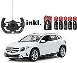 RC Mercedes-Benz GLA - Weiß oder Rot - Maßstab: 1:14 - LED-Licht - ferngesteuert, inkl. allen Batterien - RTR - LIZENZ-NACHBAU (WEIß 40MHz)