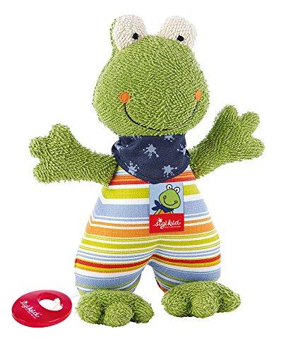 sigikid, Mädchen und Jungen, Spieluhr, Stofftier Frosch Fortis Frog, Grün/Bunt, 48895