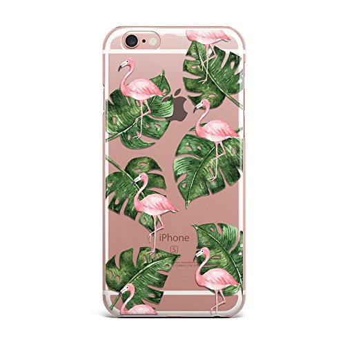Blitz® PIZZA Schutz Hülle Transparent TPU Cartoon Comic iPhone  All Avocado M4 iPhone 6 6s Flamingo im Dschungel M6