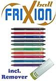 Tintenschreiber mit Druckmechanik Pilot Frixion Clicker 07 10er Sparpack | farblich sortiert | 10 Farben | mit Radierer
