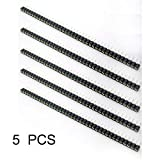 New-green 5Pcs Passo 2.54mm 40 Pin Tin PCB PANNELLO IC Breakable tondo femmina intestazione Striscia