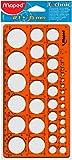 Maped M277620 - Kreisschablone Technic für Kreise Durchmesser 1 -