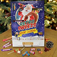 The Gift Experience Personalised Retro Sweet Advent Calendar | Personalised with Any Name