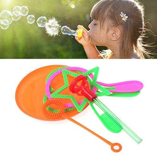 Senoow 6 Stück Blowing Bubble Soap Werkzeuge Spielzeug Bubble Sticks Set Outdoor Garten Spielzeug Kinder Spielzeug