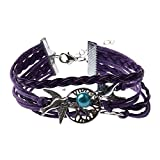 Bracelet Infini Arbre de Vie Colombe et Perle / Infinity /One Direction / Love - Violet / Argenté