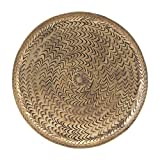 House Doctor Tablett, Rattan, Messing-Finish - Orientalisch Marokkanisch Orient Rund Maße: Ø:20cm