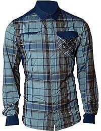 66° North Hombre Función Camisa, azul