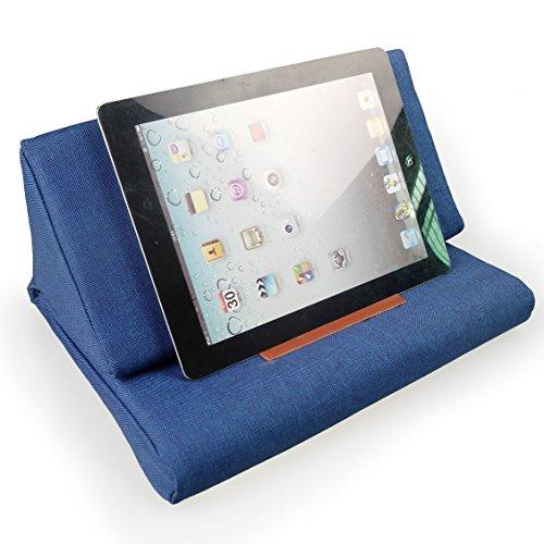 Hand Made iPad Ständer Halter Buchkissen Tablet PC Kissen, Marine Blau