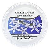 YANKEE CANDLE coupelle de Cire «Jasmin de Minuit» pour diffuseur Scenterpiece™, Blanche