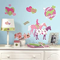 RoomMates Repositionable Childrens Wall Stickers Horse Crazy