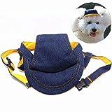 YUMSUM Cappello da baseball per animali da compagnia Jeans sportivo Cappello da sole con visiere per piccoli cani (S)