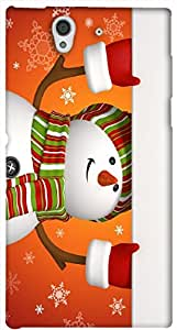 Incredible 3D multicolor printed protective REBEL mobile back cover for Sony Xperia Z L36H - D.No-DEZ-2401-s36