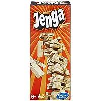Hasbro - Jenga Classic, Kinderspiel das die Reaktionsgeschwindigkeit fördert, ab 6 Jahren
