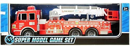 feuerwehrauto lena Riesen Feuerwehrauto Fire Rescue Truck mit großer Drehleiter Friktion 50 cm