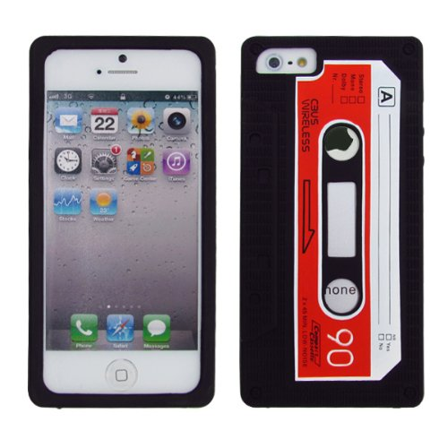 cbus-wireless-black-red-silicone-cassette-tape-case-skin-cover-for-apple-iphone-5-5g-5s