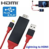 KSRplayer HDMI-8pin HDMI-Kabel, For IOS iPhone iPad, Rot/Schwarz, Stück: 1