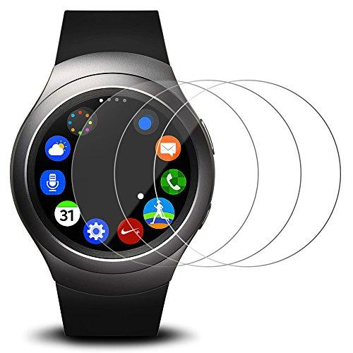 Pellicola Protettiva per Samsung Galaxy Gear S2, AFUNTA 3 Pack Pellicola in Vetro Temperato Protezione di Schermo Anti-graffio Trasparenza ad alta Definizione Protezione Proteggi Schermo
