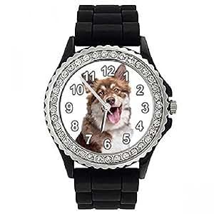 Timest sgp304cz–Montre bracelet pour femme, bracelet en silicone noir