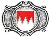 Brazil Lederwaren Gürtelschließe Wappen Franken 4,0 cm