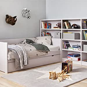 lorena canals kinderteppich stern grau wei 140x200cm. Black Bedroom Furniture Sets. Home Design Ideas