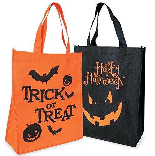 Halloween-Tasche, mit Aufdruck, in schwarz oder orange, 29x34x10cm