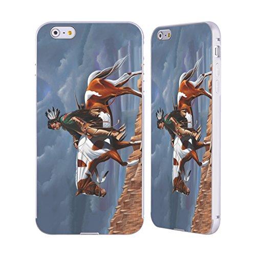 Ufficiale Geno Peoples Art In Alto Vita Argento Cover Contorno con Bumper in Alluminio per Apple iPhone 5 / 5s / SE Paese Sioux